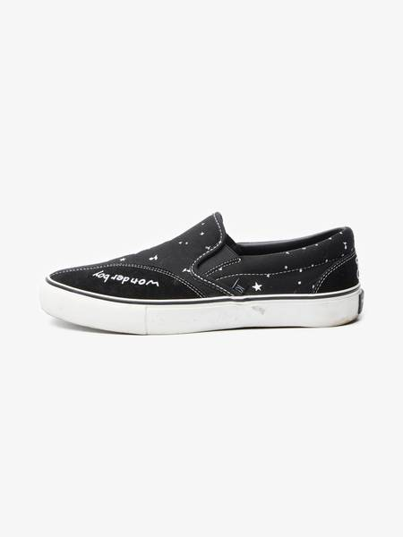 [Pre-Loved]Takahiromiyashita The Soloist. Male Clearweather Black Cotton Slippons