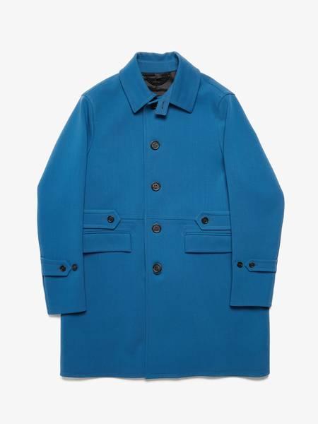 [Pre-Loved] Burberry Male Blue Belted Virgin Wool Coat