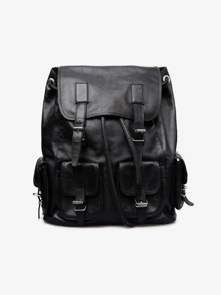 PRE-LOVED Saint Laurent Paris Leather Backpack - black