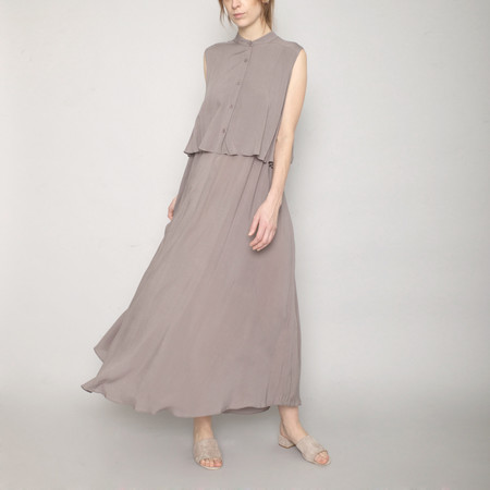 7115 by Szeki Sleeveless Layered Dress - Stone - SS17