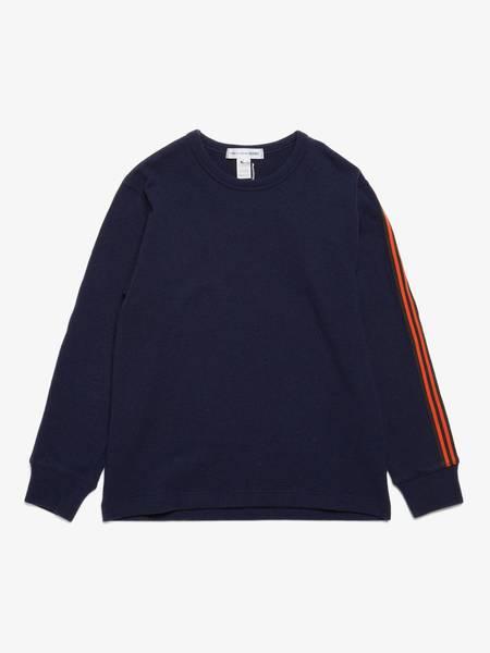 [Pre-Loved] Comme des Garcons Shirt M Navy Orange Stripes  Wool Sweater