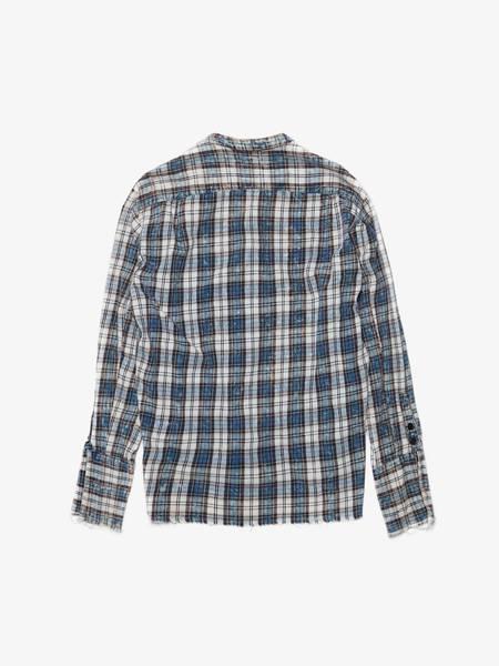 [Pre - Loved] Greg Lauren Checked Raw Hem Flannel Cotton Studio Sirt
