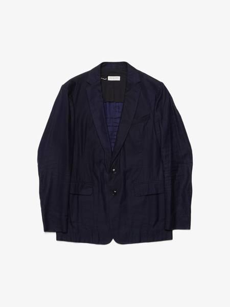 [Pre-Loved] Dries Van Noten Linen Bland Blazer Jacket - Black