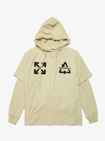 [Pre-Loved]Off-White Male Lemon Universal Key Double Layered Cotton Hoodie