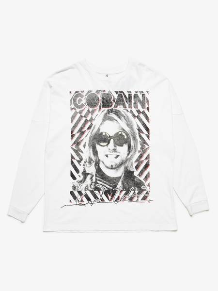 PRE-LOVED R13 Printed Cotton Longsleeve - white