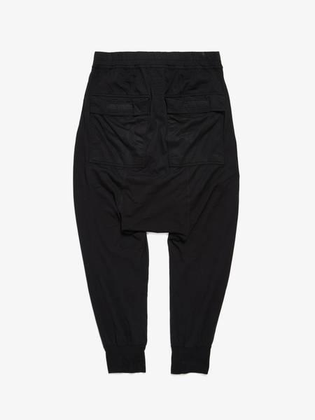 Rick Owens Drkshdw M Black Drop Crotched Cotton Pants