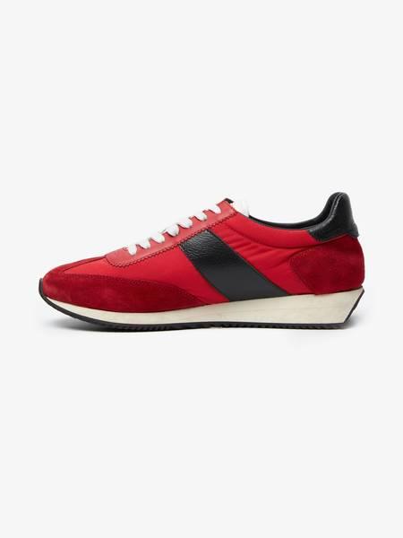 [Pre -Loved] Saint Laurent Paris Red SL20 Runner Suede and Nylon Sneakers