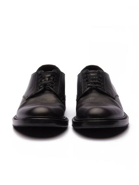 PRE-LOVED Saint Laurent Paris Classic Derby Shoes - black