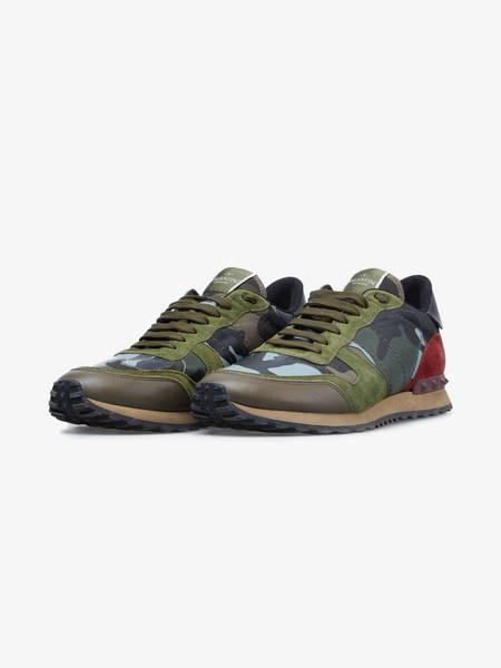 [Pre-Loved] Valentino M Retro Runner Camo Sneakers-NEUTRAL