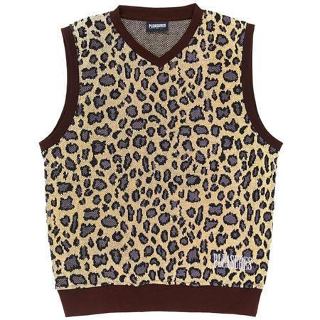 PLEASURES Survival Sweater Vest - Tan