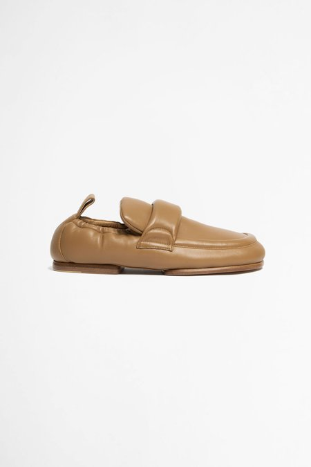 Dries Van Noten Padded leather loafers - beige
