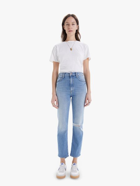 Mother Denim High Waisted Rider Ankle in Kiss and Make Up Again Jeans