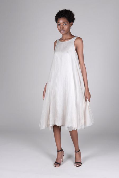 Louiza Babouryan Silk Organza Swing Dress