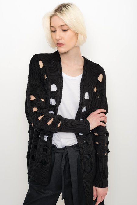 UMA Raquel Davidowicz Asymmetrical Tricot with Cutouts Cardigan - Lugre