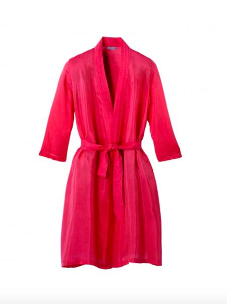 Germaine des prés LONG KIMONO robe - PINK
