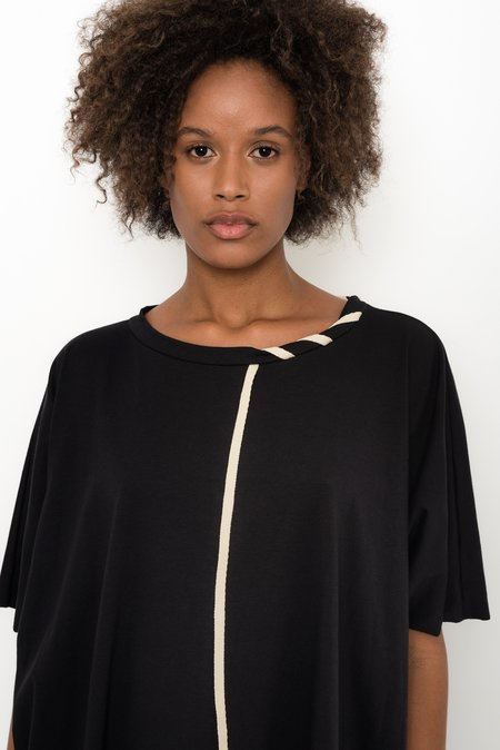 UMA Raquel Davidowicz Cotton Jersey Wide Top - Arau