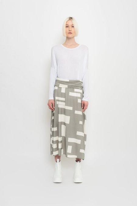 UMA Raquel Davidowicz Draped Midi Skirt With Geometric Print - Moréia