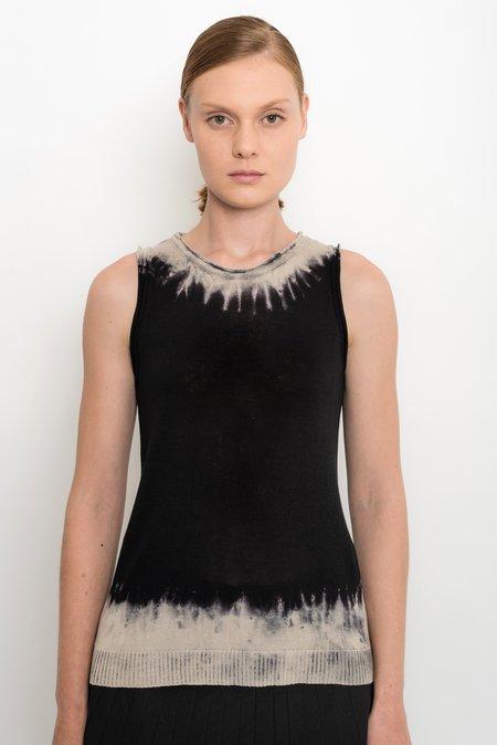 UMA Raquel Davidowicz Knit Tank Top With Tie Dye Top - Lodo