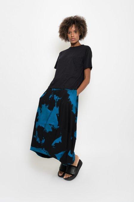 UMA Raquel Davidowicz Morsa Printed Stained Midi Skirt