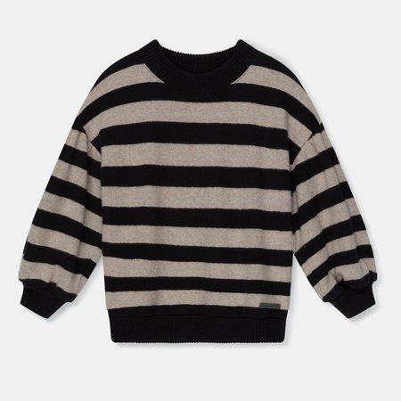 Kids My Little Cozmo Marta Striped Sweater - Black