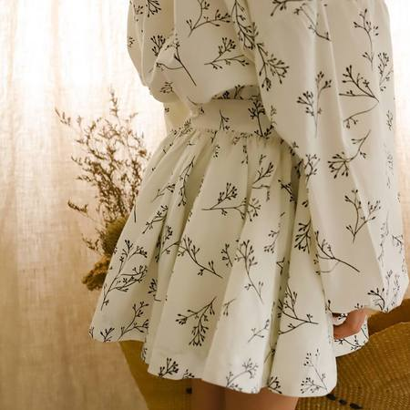 Feather Drum Willow Mini Skirt - Sprig