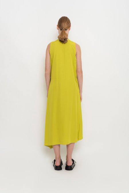 UMA Raquel Davidowicz Asymmetrical Dress With Side Adjustment - Avocado