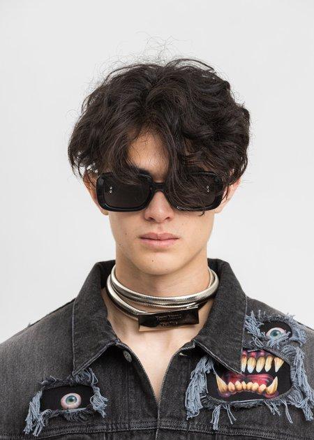 Unisex Doublet Square Flame Sunglasses - Grey