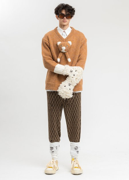 Unisex Doublet Sheep Face Gloves - Ivory