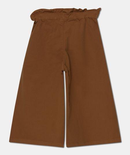 kids My Little Cozmo Denise Twill Wide-Leg Cargo Pants - Caramel