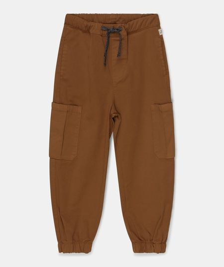kids My Little Cozmo Erick Twill Cargo Pants - Caramel