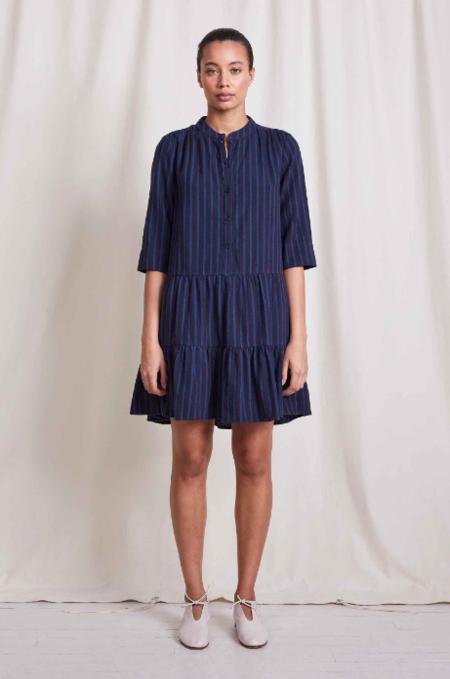 Apiece Apart Maurino Drop Waist Dress - Winter Stripes