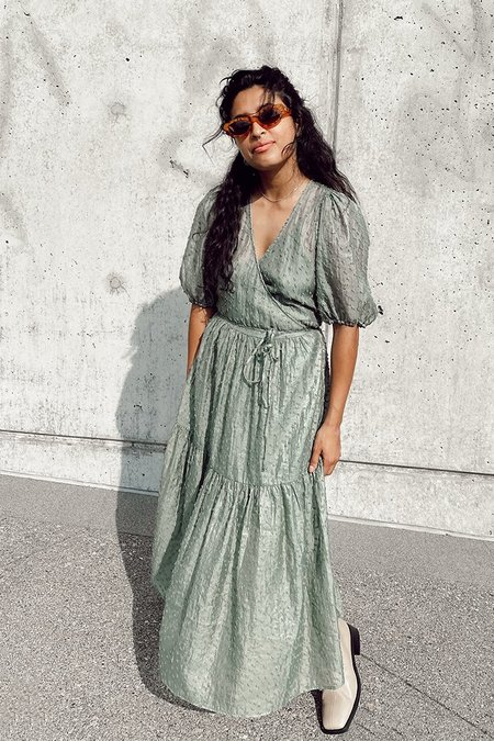 Just Female LARA WRAP DRESS - SEA SPRAY