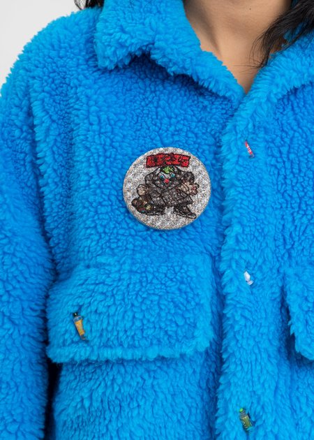 Unisex Doublet Embroidery Badge - Silver
