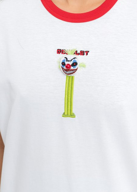 Doublet Puppet Embroidery T-Shirt - White