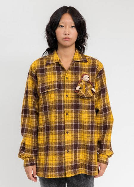 Doublet Check Shirt With My Doll - Yellow