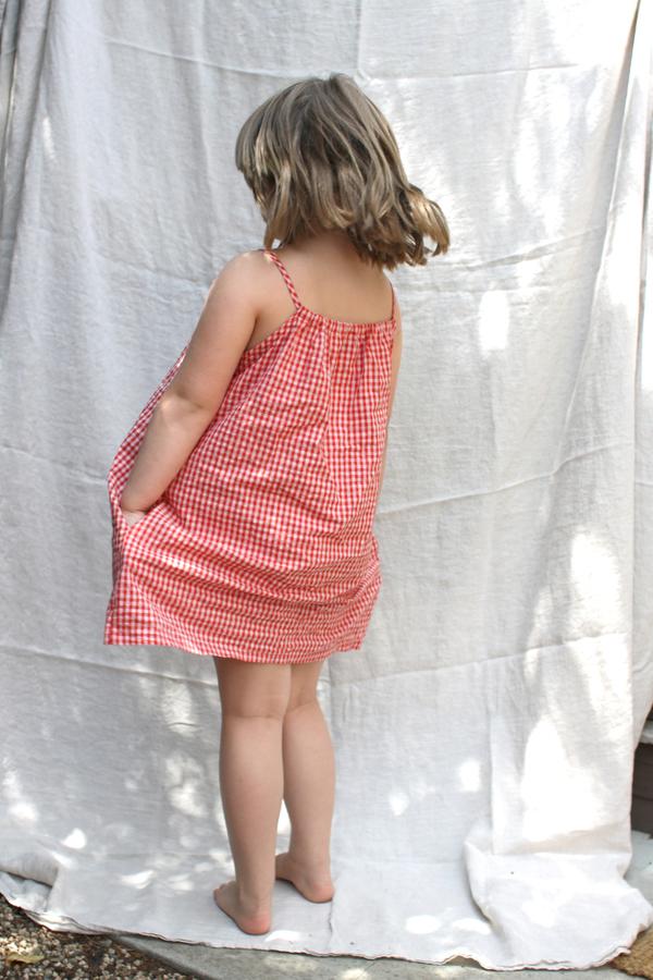pietsie Antibes Dress in Red Check Gingham
