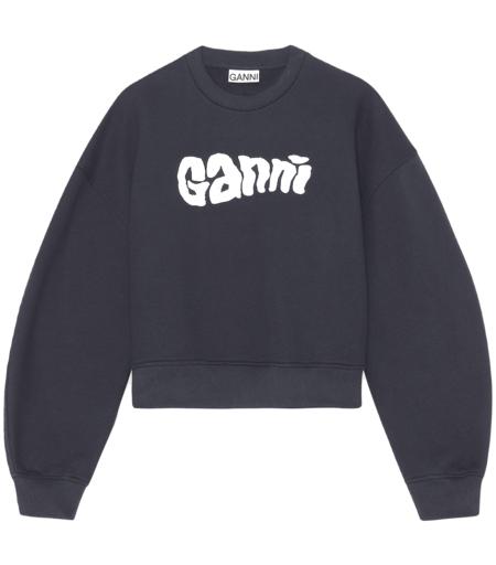 Ganni Isoli Logo Sweatshirt - Sky Captain