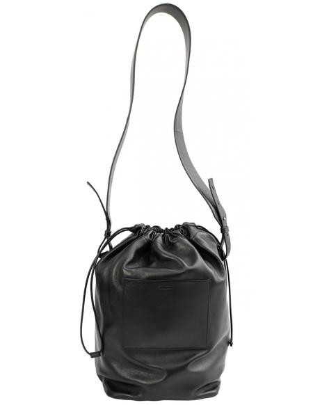 Jil Sander Drawstring Shoulder Medium Bag - Black