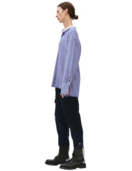 Greg Lauren Cotton Shirt - Blue