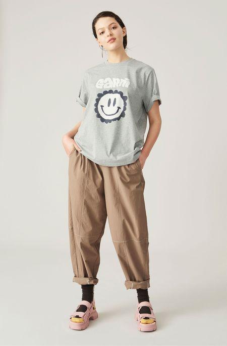 Ganni Smiley Flower T-Shirt - Paloma Melange