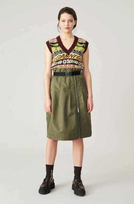 Ganni Wool Mix Knit Vest - Multicolour