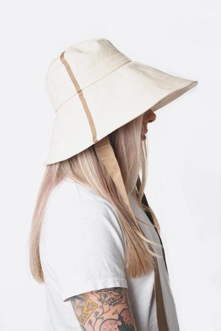 Lola Big Finishing Line Hat with Camel Trim