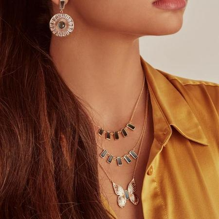 Elizabeth Stone Butterfly with Blue Tourmaline Necklace