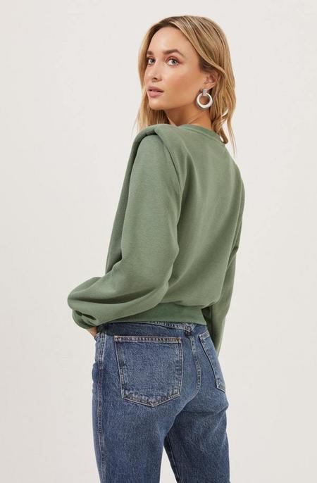 ASTR The Label Sparrow Sweater - Washed Green