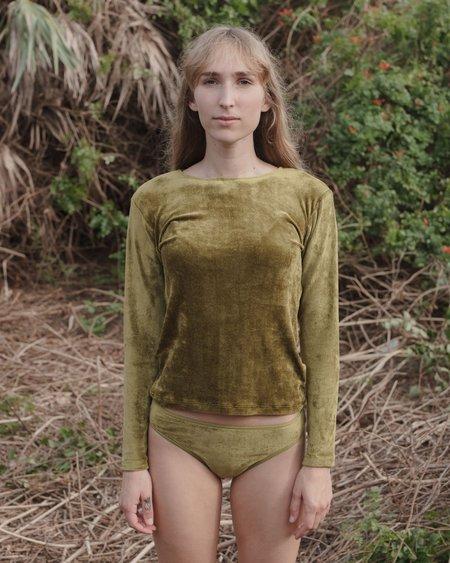 Baserange Omo Long Sleeve Tee - Galti Green