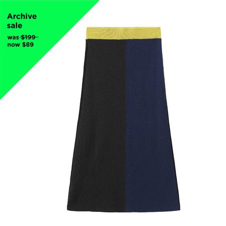 MATTER MATTERS Colour Block Knit Skirt - Navy/Black
