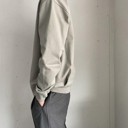 Still By Hand Diagonal Seam Sweatshirt - Sage