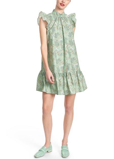 Corey Lynn Calter Roanne Ruffle Short Dress - Garden Leopard