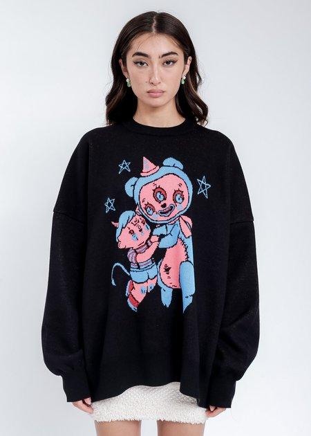 Kidill Hell Boy Knit Pullover Sweater - Black