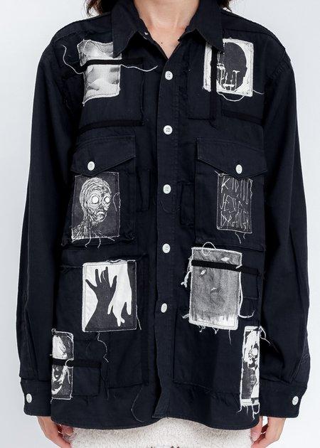 KIDILL × EDWIN Patch Denim Shirts - Black